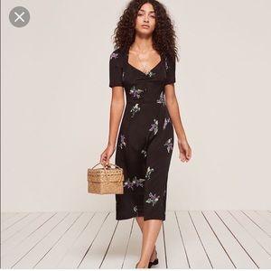 Reformation esme dress plain black 6